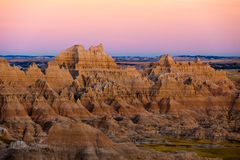 Sunset at panorama point at badlands Royalty Free Stock Image