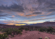 Sunset at Panorama Point Capitol Reef National Park Royalty Free Stock Photo