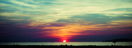 Sunset panorama Royalty Free Stock Photos