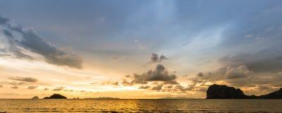 Sunset, Panorama Stock Photos