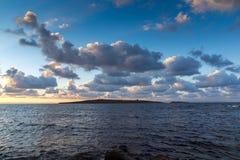 Sunset panorama of st. Ivan island near Sozopol Town, Bulgaria. Sunset panorama of st. Ivan island near Sozopol Town, Burgas Region, Bulgaria stock image