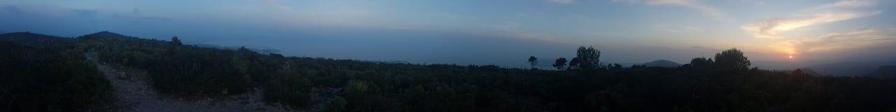 sunset panoramiczny Obraz Royalty Free