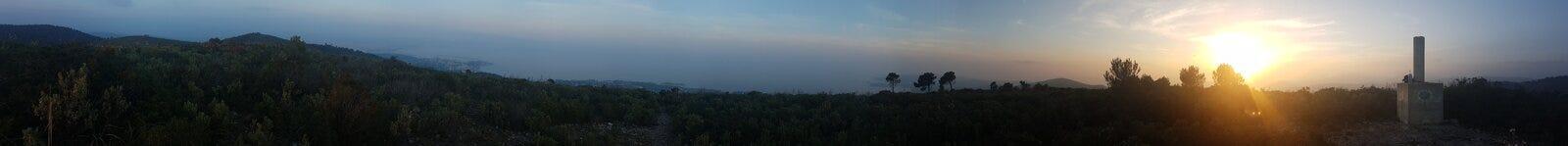 sunset panoramiczny Obrazy Stock