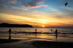 Sunset in Pantai Tengah beach, Langkawi. Sunset in Pantai Tengah beach, Langkawi, Malaysia Stock Image