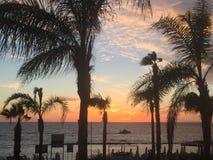 Sunset on Paphos beach. Paphos Cyprus 208 Stock Photos
