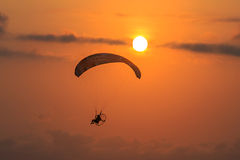 SUNSET PARACHUTE Royalty Free Stock Image