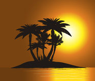 Sunset on Paradise Royalty Free Stock Photo