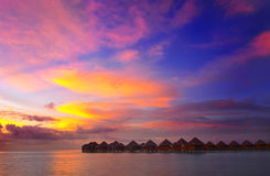 Sunset in the paradise Stock Photography