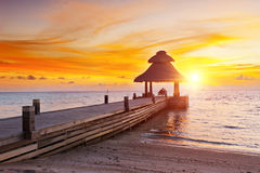 Sunset in the paradise Royalty Free Stock Images