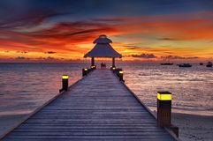 Sunset in the paradise Stock Photos