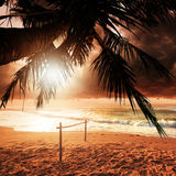 Sunset in Paradise Royalty Free Stock Photos