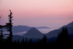 Sunset in Paradise. Sunset at Paradise Point, Mount Rainier National Park, Washington Stock Photography