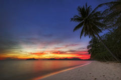 Sunset of paradise place Royalty Free Stock Image