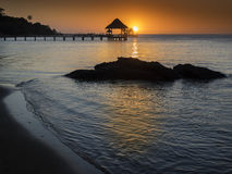 Sunset in paradise Stock Photos