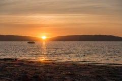 Sunset in Parakas, Peru stock image