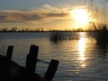 Sunset at Parana River Royalty Free Stock Photography