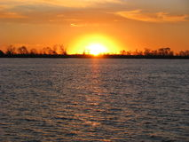 Sunset at Parana River Stock Photography