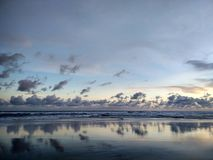 Sunset at Parangtritis Beach Yogyakarta City, Indonesia royalty free stock photo