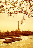Sunset in Paris Royalty Free Stock Photos