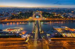 Sunset in paris. From the Eiffel tower Stock Image
