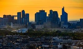 Sunset of Paris Royalty Free Stock Photo