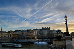 Sunset in paris. Remarkable sunset in beautiful Paris Stock Image