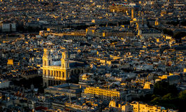 Sunset in Paris Stock Photography