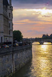 Sunset in Paris Stock Photos