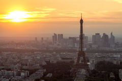 Sunset Paris Stock Photo
