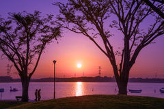 Sunset at a Park Stock Image
