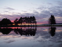 Sunset in a park. This is a most beautiful sunset in July Royalty Free Stock Photos