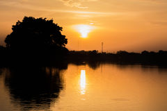 Sunset. At the park in Thailand Stock Images