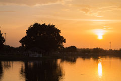 Sunset. At the park in Thailand Stock Image