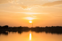 Sunset. At the park in Thailand Stock Photography