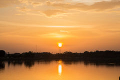 Sunset. At the park in Thailand Royalty Free Stock Photo