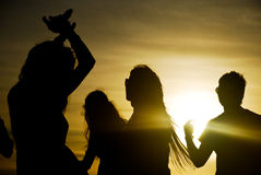 Sunset party Stock Images