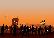 Sunset Party Stock Photography
