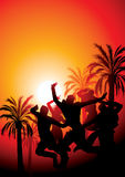 Sunset party illustration. Royalty Free Stock Image