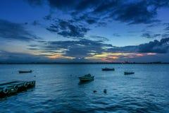 Sunset Paseo La Princesa. Paseo la Princesa old san juan puerto rico sunset light Stock Images