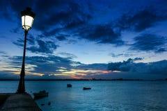 Sunset Paseo La Princesa. Paseo la Princesa old san juan puerto rico sunset light Royalty Free Stock Image