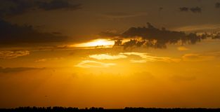 Sunset passing day. Stock Images