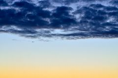 Sunset in pastel colors Stock Images