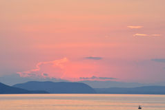 Sunset in pastel colours Royalty Free Stock Image