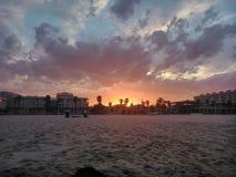 Sunset. Patacona beach, Valencia, Spain Stock Photo