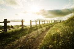 Sunset path Royalty Free Stock Photography