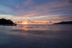 Sunset Patong beach, Phuket, Thailand Royalty Free Stock Photo