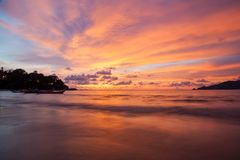 Sunset Patong beach, Phuket, Thailand Royalty Free Stock Photos