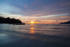 Sunset Patong beach, Phuket, Thailand Royalty Free Stock Photography