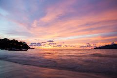 Sunset Patong beach, Phuket, Thailand Stock Images