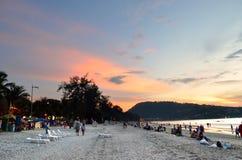 Sunset at the Patong beach, Phuket, Thailand Stock Photos